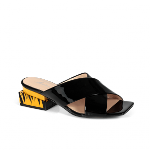 Дамски чехли от естествен лак ILV-4520