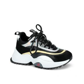 Дамски спортни обувки от естествен кожа и велур ILV-4790