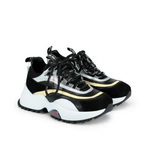 Дамски спортни обувки от естествен кожа и велур ILV-4790 - 2