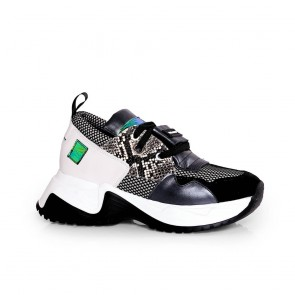 Дамски спортни обувки от естествена кожа и велур ILV-991