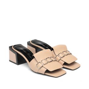Дамски чехли от естествена кожа ILV-RG-744 - 2