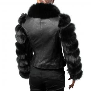 Дамско яке от естествена кожа ING-1960 - 2