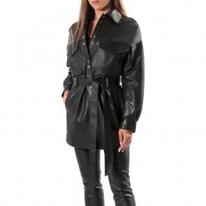 Дамско яке от естествена кожа ING-2098 - 2