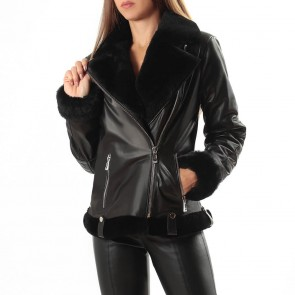 Дамско яке от естествена кожа ING-2101 - 2