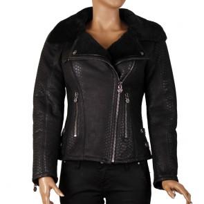 Дамско яке от естествена кожа ING-2131