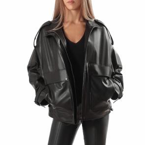 Дамско яке от естествена кожа ING-M-2512 - 2