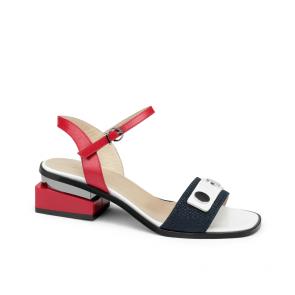 Дамски сандали от естествена кожа и лак KM-100-412
