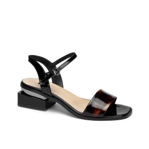 Дамски сандали от естествен лак KM-100-431