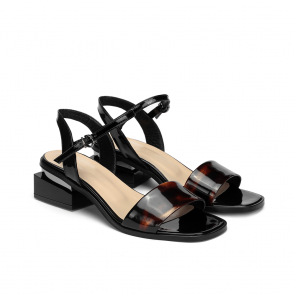 Дамски сандали от естествен лак KM-100-431 - 2