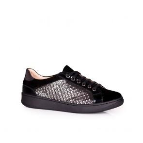 Дамски спортни обувки от естествена кожа и велур