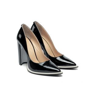 Дамски обувки от естествен лак KM-191 - 2