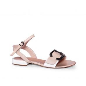 Дамски сандали от естествена лак