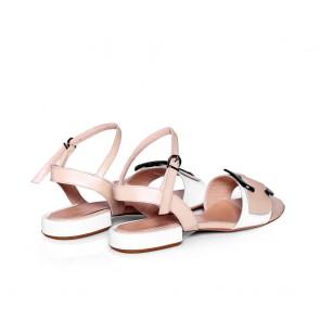 Дамски сандали от естествена лак - 2