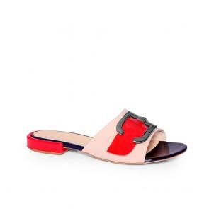 Дамски чехли от естествена лак