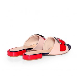 Дамски чехли от естествена лак - 2