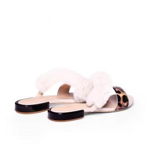 Дамски чехли от естествен лак KM-298-04 - 2