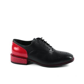 Дамски обувки от естествена кожа и лак KM-298-2091