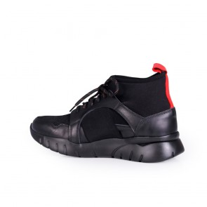 Мъжки обувки от естествена кожа и текстил - 2