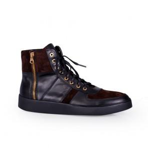 Мъжки обувки от естествена кожа и велур