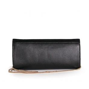 Дамска чанта от естествен велур и кожа  - 2