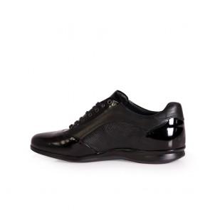 Мъжки спортни обувки от естественa кожа и лак - 2
