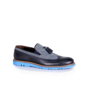 Мъжки обувки от естествен набук и кожа