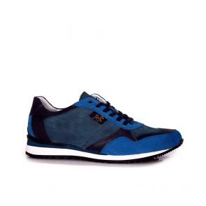 Мъжки спортни обувки от естествен велур