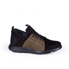 Мъжки спортни обувки от естествен набук и кожа