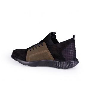 Мъжки спортни обувки от естествен набук и кожа - 2
