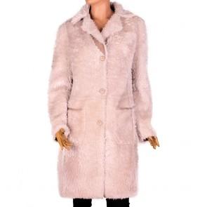 Дамско двулицево палто от естествена кожа