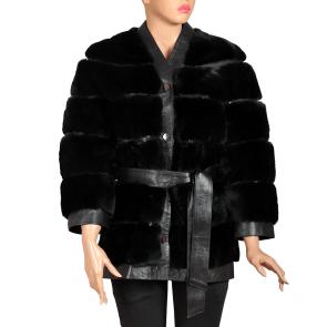 Дамско палто от естествена кожа MK-19-38