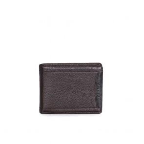Мъжки портфейл от естествена кожа в кафяв цвят