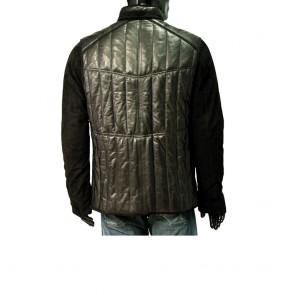 Мъжко яке от естествена кожа и велур - 2