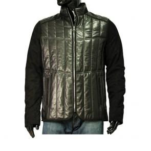Мъжко яке от естествена кожа и велур