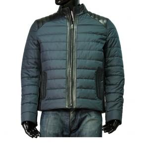 Мъжко яке от естествена кожа и текстил