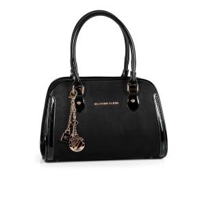 Дамска чанта от еко велур и лак MZ-530105