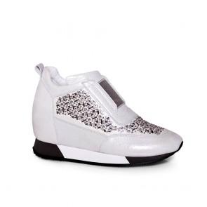 Дамски спортни обувки от естествена кожа N55-19-27
