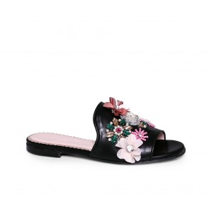 Дамски чехли от естествена кожа