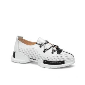 Дамски спортни обувки от естествена кожа NFR-128505