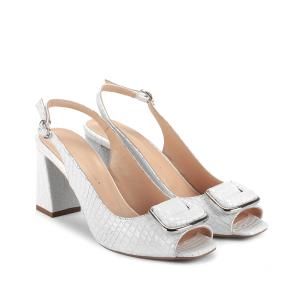 Дамски сандали от естествен лак NFR-2525 - 2