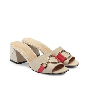 Дамски чехли от естествена кожа NFR-3047 - 2