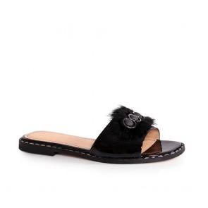 Дамски чехли от естествен лак NFR-3115