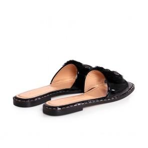 Дамски чехли от естествен лак NFR-3115 - 2