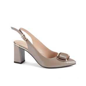 Дамски сандали от естествен лак NFR-945