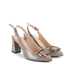 Дамски сандали от естествен лак NFR-945 - 2