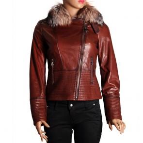Дамско яке от естествена кожа PM-2487