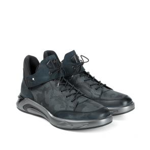 Мъжки обувки от естествена кожа и набук PRG-10306 - 2