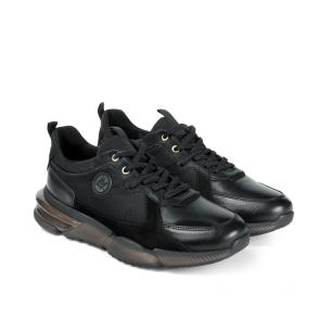 Мъжки обувки от естествена кожа и велур PRG-12419 - 2