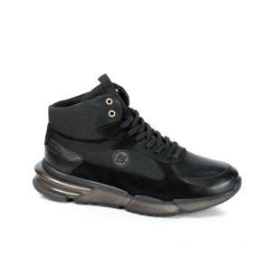 Мъжки обувки от естествена кожа и велур PRG-12433