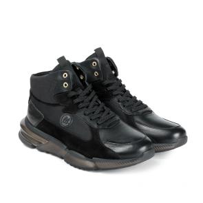 Мъжки обувки от естествена кожа и велур PRG-12433 - 2